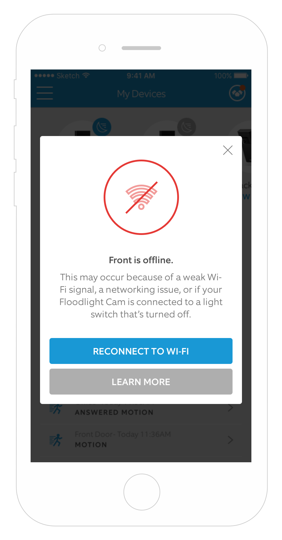 What To Do If Your Floodlight Cam Goes Offline Ring Help Add A Light From Switched Receptacle Device Flc