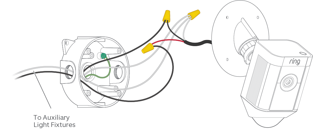 connecting external lights to your spotlight cam mount \u2013 ring help 3-Way Switch Wiring Diagram