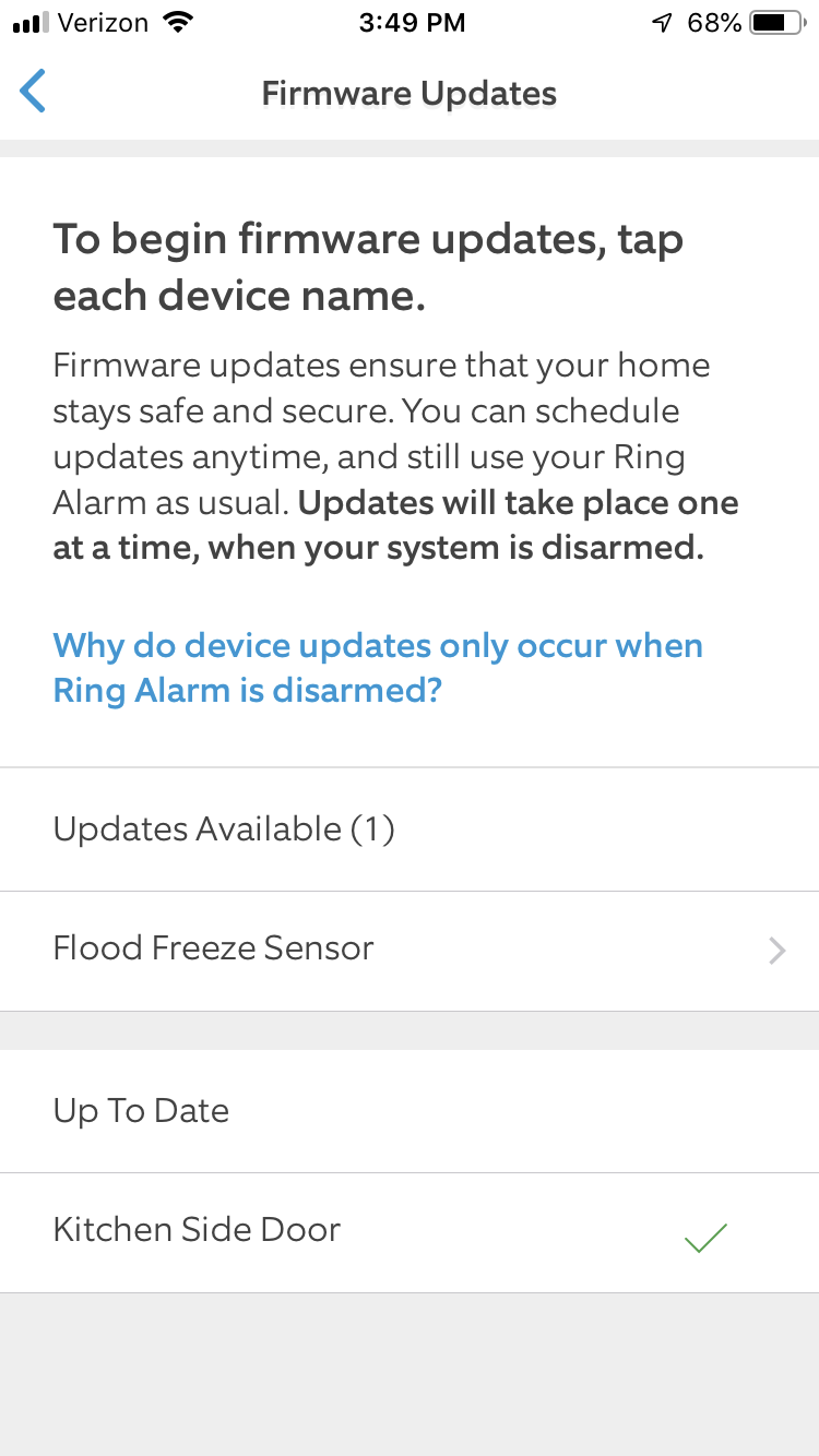 Updating the Firmware on Your Ring Alarm Devices – Ring Help