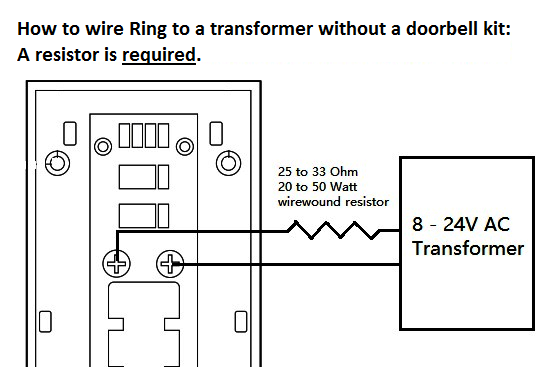 how to connect your ring video doorbell directly to a low voltage if you are looking to purchase a resistor here are two we have tested and recommend